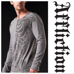 Men's Affliction Long Sleeve Button Up